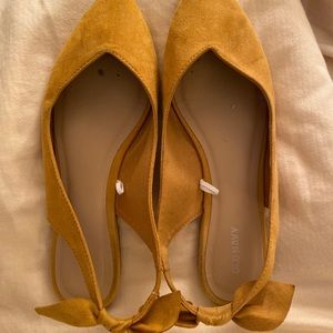 Faux-Suede Pointy Ballet Flats